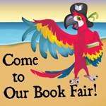 Bookaneer Book Fair parrot