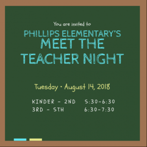 Meet the Teacher Night (3rd-5th)