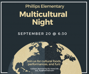 PTA Meeting & Multicultural Night