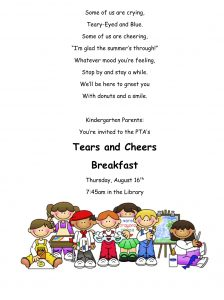 Kinder Parents - Tears and Cheers @ Phillips Library